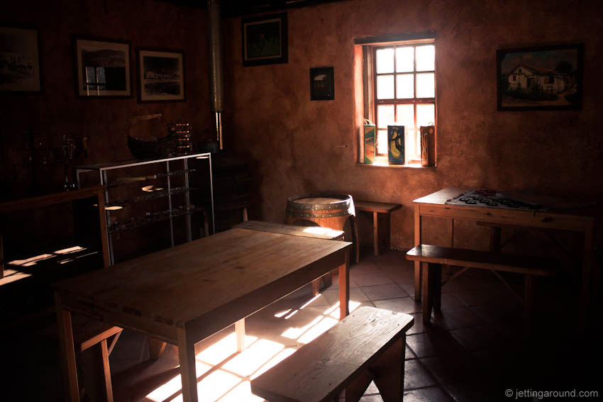 The tasting room is inside  an adobe home from the 1800's