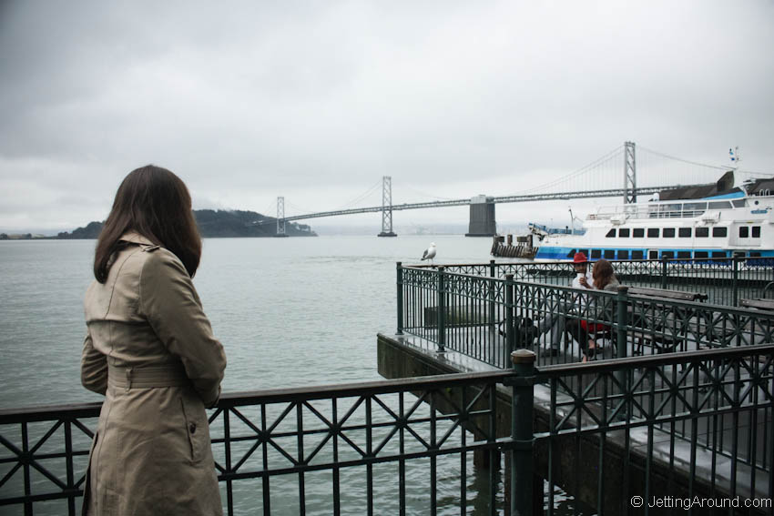 View of Bay Bridge from San Francisco Ferry Building
