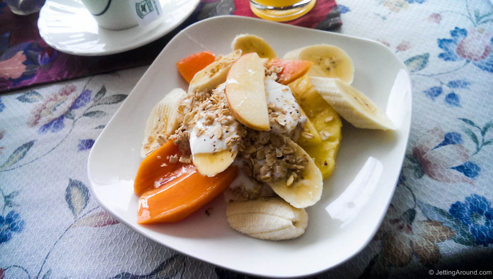 Fruit salad in Ecuador