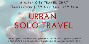 #JAchat on Twitter: Urban Solo Travel
