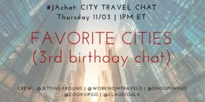 #JAchat on Twitter: Favorite Cities