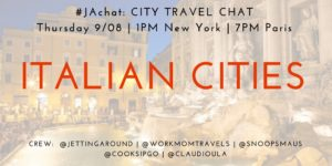 #JAchat on Twitter: Italian Cities
