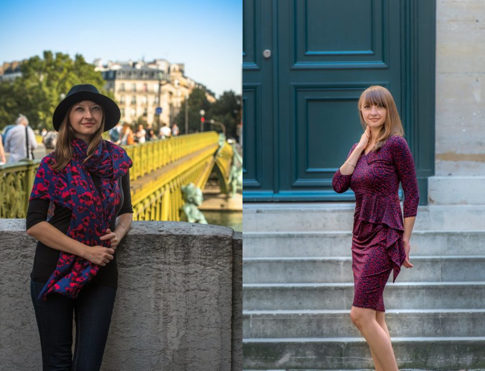 Effortlessly chic on the road with Leota travel dresses and scarf
