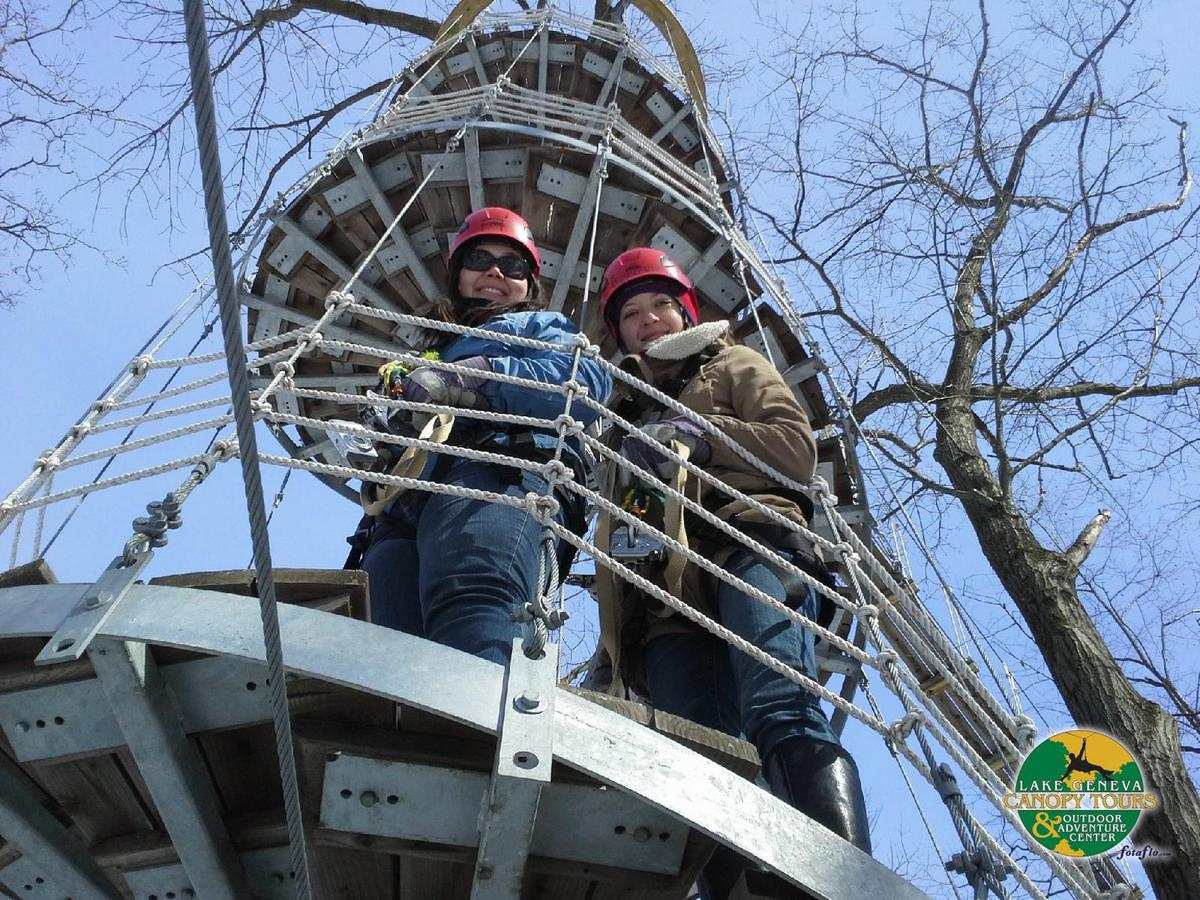 Ziplining In Wisconsin With Lake Geneva Canopy Tours